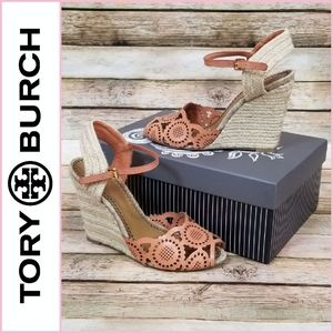 FIRM PRICE Tory Burch Gia Espadrille Wedge Sandals